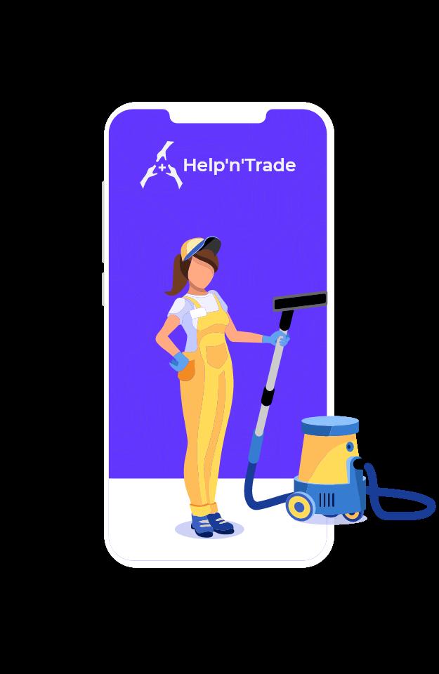 For businesses - Help'n'Trade illustration