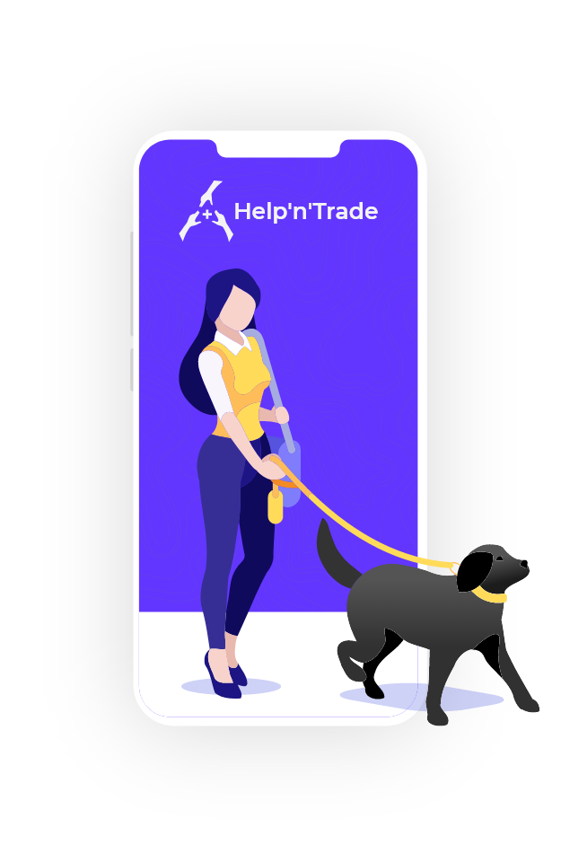 podcast for starting entrepreneurs - Help'n'Trade - image of a girl with dog
