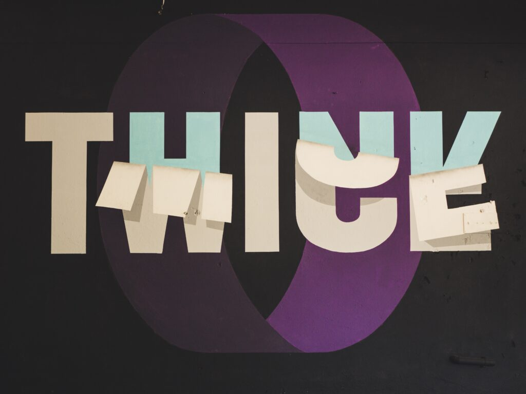 """How to start your personal brand with Hannah-Grace Fraser_picture of """"think twice"""""""