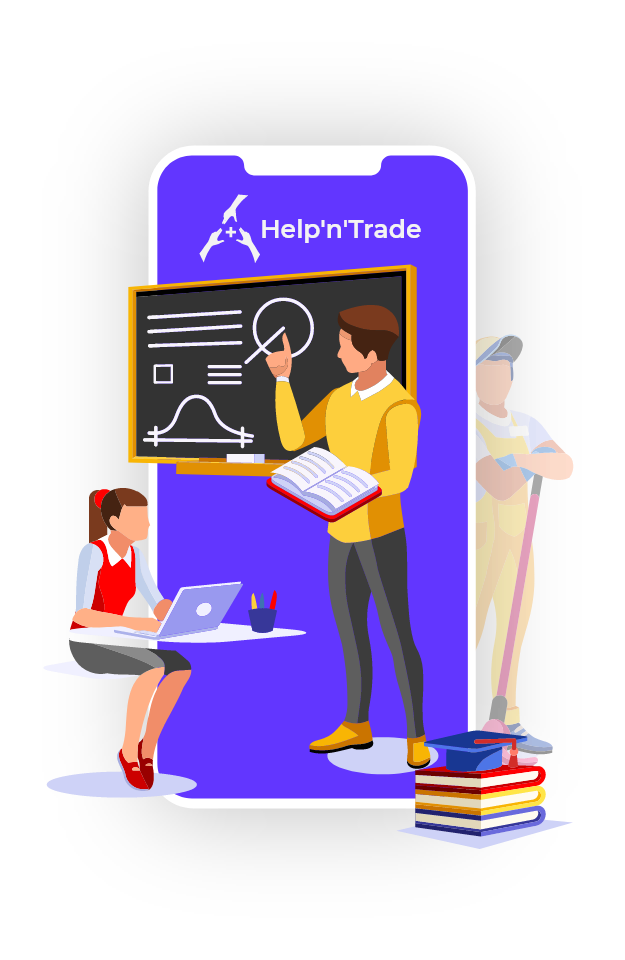 Marketplace for local services - Help'n'Trade - students